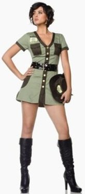 3 Piece Border Patrol Costume for Women