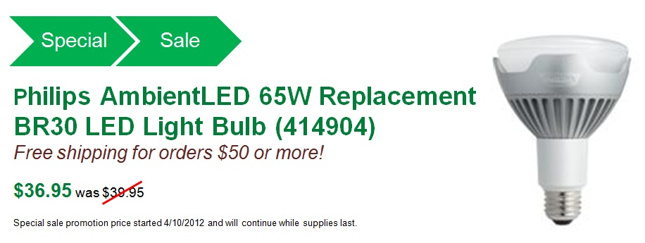 Philips AmbientLED (TM) Dimmable 65W Replacement BR30