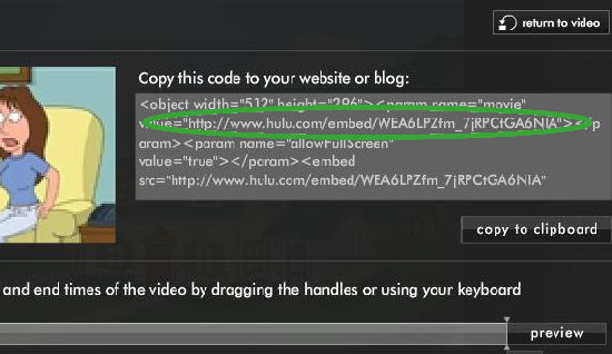 How to Embed Hulu Videos by Extracting URLs from Embed Code