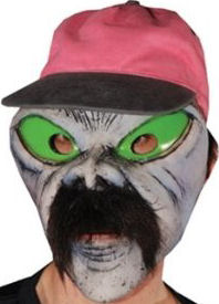 Illegal Alien Latex Mask with Mustache and Baseball Cap