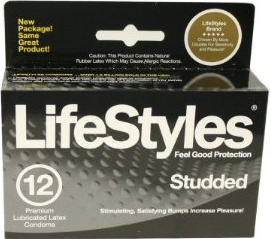 Lifestyles Studded and Lubricated Condoms