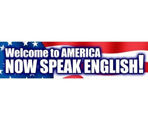 RIP Welcome to America Now Speak English Bumper Sticker